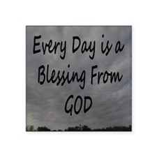 """Every day Is a Blessing Fro Square Sticker 3"""" x 3"""""""