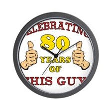 80th Birthday Gift For Him Wall Clock