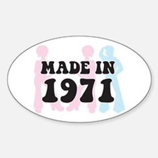 Made In 1971 Oval Decal