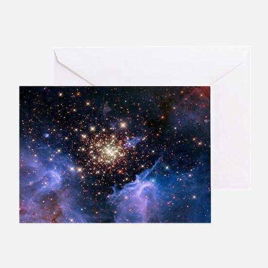 Starburst Cluster Celestial Firework Greeting Card