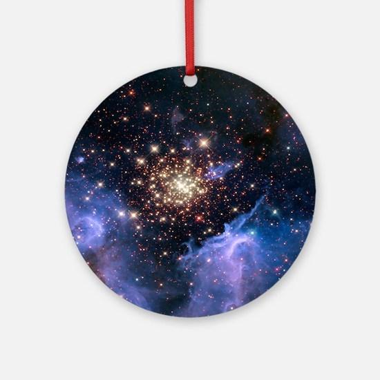 Starburst Cluster Celestial Firewor Round Ornament