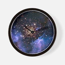 Starburst Cluster Celestial Fireworks Wall Clock