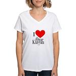 I Love Omar Khayyam Women's V-Neck T-Shirt