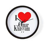 I Love Omar Khayyam Wall Clock
