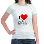 I Love Omar Khayyam Jr. Ringer T-Shirt