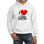 I Love Omar Khayyam Hooded Sweatshirt