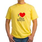 I Love Omar Khayyam Yellow T-Shirt