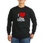 I Love Omar Khayyam Long Sleeve Dark T-Shirt