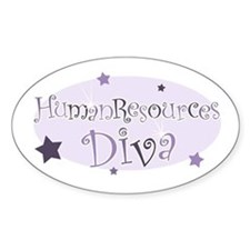 """Human Resources Diva"" [purpl Oval Decal"