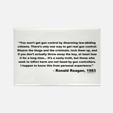 Reagan: You won't get gun control Rectangle Magnet