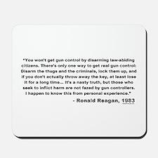 Reagan: You won't get gun control Mousepad