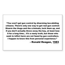 Reagan: You won't get gun control Decal