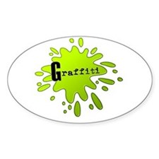 Graffiti Oval Bumper Stickers