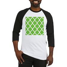 Pretty green geometric pillow desi Baseball Jersey