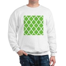 Pretty green geometric pillow design Sweatshirt