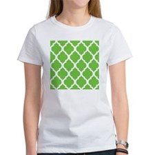 Pretty green geometric pillow desi Tee