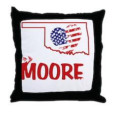 Moore OK Twister Throw Pillow