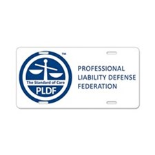 PLDF Circle Logo With Name  Aluminum License Plate