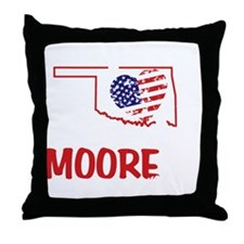 I Love U Moore OK Twister Throw Pillow