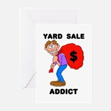 YARD SALE ADDICT Greeting Cards (Pk of 10)