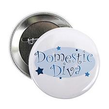 """""""Domestic Diva"""" [blue] Button"""