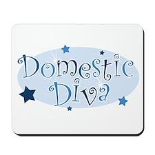 """Domestic Diva"" [blue] Mousepad"
