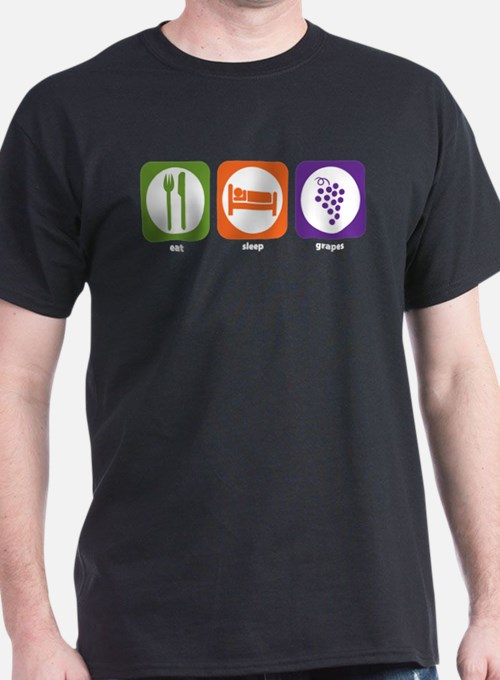 Eat Sleep Grapes T-Shirt