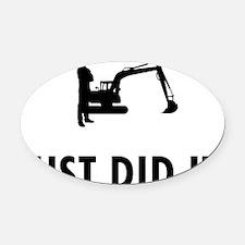 Excavator-04-A Oval Car Magnet