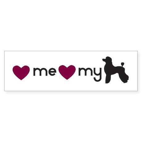 Love My Poodle Bumper Sticker