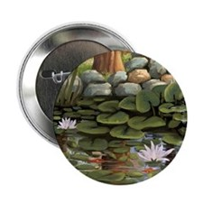 """Fish among the lilies 2.25"""" Button"""