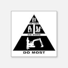 "Excavator-11-A Square Sticker 3"" x 3"""