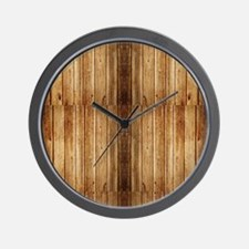 Flip-Flip Wood Wall Clock
