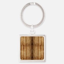 Flip-Flip Wood Square Keychain