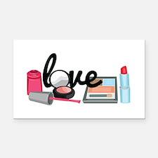 Makeup love Rectangle Car Magnet