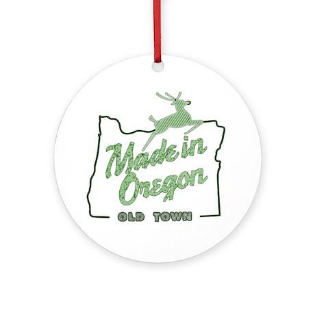 Made in Oregon Round Ornament