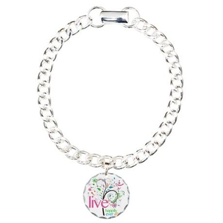 Live Happily Ever After Charm Bracelet, One Charm