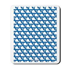 Whale Blue Mousepad
