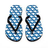 Blue whale Flip Flops