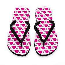 Whale Pink Flip Flops
