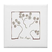 tree-hugger Tile Coaster