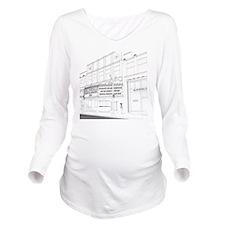 El Portal Theater, L Long Sleeve Maternity T-Shirt