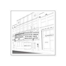 """El Portal Theater, Los Ange Square Sticker 3"""" x 3"""""""