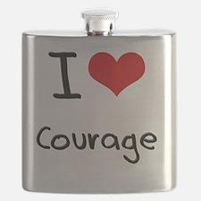 I love Courage Flask