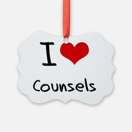 I love Counsels Ornament