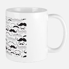 Mustache You A Question Black Mug