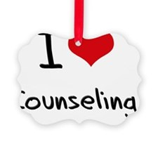 I love Counseling Ornament