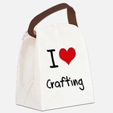 I love Crafting Canvas Lunch Bag