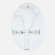 Afrika Ankh Oval Ornament