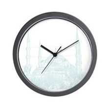 Istanbul_10x10_BlueMosque_White Wall Clock