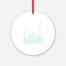 Istanbul_10x10_BlueMosque_White Round Ornament
